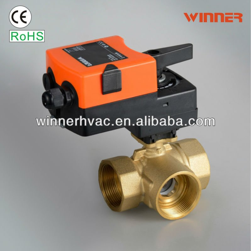 2 way automatic control ball valve for HVAC and water meter