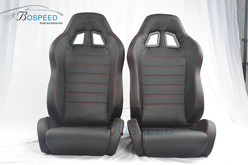 Adjustable car racing seat lightweight leather racing seat-05