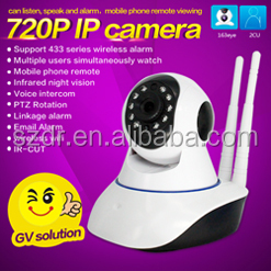 LOW COST PROMOTION P2P WIFI PTz camera with Alarm, mobile phones watch video ptz camera with IR CUT and Dual Antenna