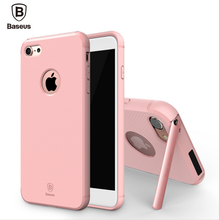 Baseus Hidden Bracket TPU & PC Kickstand Holder Matte Case For Iphone 7/7 Plus HD-783