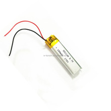 Li-polymer Type 3.7V 180mAh ultra thin tablet rechargeable li-polymer battery