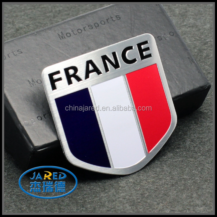 custom nation flag metal car body sticker with high quality