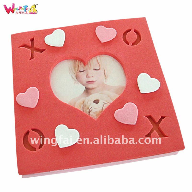red heart shaped photo frame for children