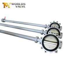 FC FCD stainless steel long stem lug butterfly valve