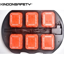 Free shipping! Newest 6-pack Rechargeable traffic warning light, Emergency LED road Flares flashing safety beacon Syncable