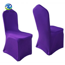 Universal eggplant slipcovers banquet chair covers from factory
