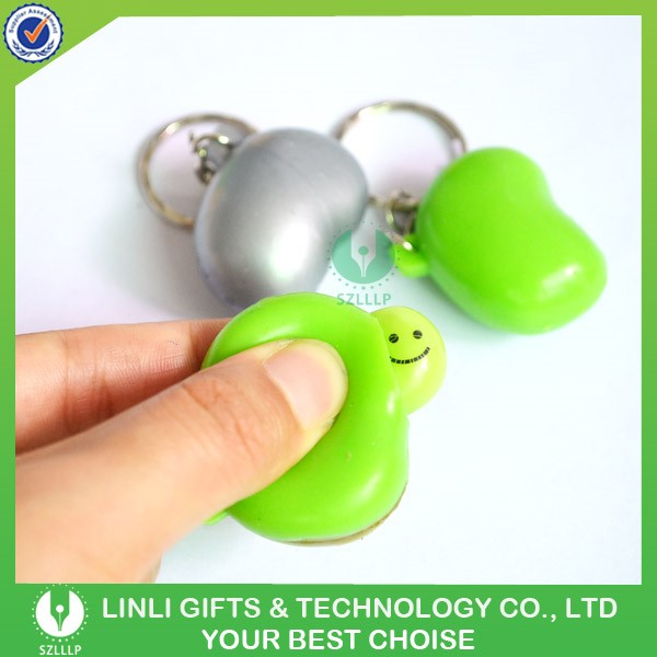 Popular Promotional Gift Squeeze Soft PVC Keychain, Eyes Pop out Keychain