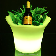 Professional beer champagne glass ice bucket acrylic wine bottle holder