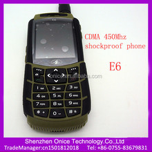 2.2 inch cdma 450 mhz mobile phone E6 shockproof support FM 2.0 Mp camera cdma 450mhz handset