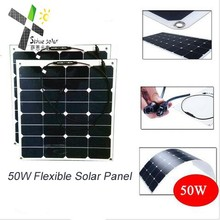 sunpower cell semi flexible solar panel 50W 100W 120W made in Shenzhen China