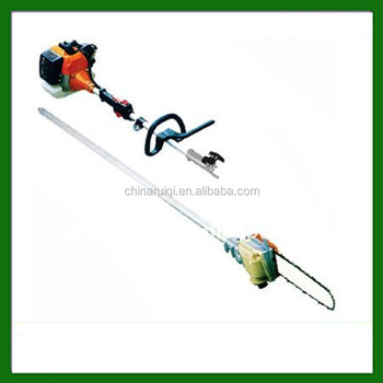 gas powered extendable long reach tree pole saw