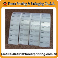Wholesale removable black color printing price labels for wood shelves