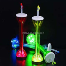 LED flashing yard glass cup for party