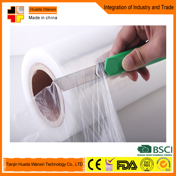 China supplier lldpe stretch packing wrap plastic film jumbo roll