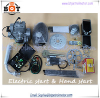 80cc Hot sale 2 stroke bicycle engine kits/electric start motorized bicycle