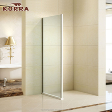 Modern unique complete shower screen side panel 6mm tempered glass enclosed shower room with Chrome 6463 Aluminium profiles