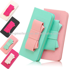 Cute Bow Case Cover For iPhone5s,PU Leather Flip Wallet Card Case For iPhone5s 5c