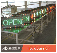 CCC CE BV RoHS approval P10 semi-outdoor green LED open sign