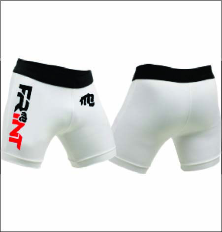 compression vale tudo shorts with screen printing logo