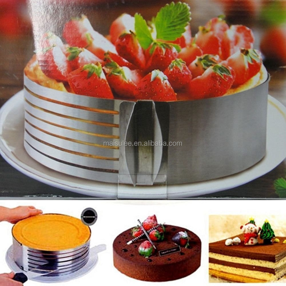Stainless Steel Adjustable Layer Cake Slicer/ Mousse Cake Mold