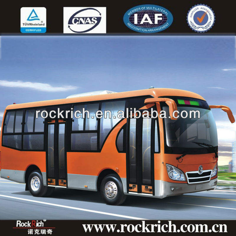 Nice design !!! 7m dongfeng mini bus dimensions, 25seats, LHD, Cummins Euro 3, front engine