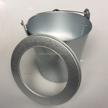 Metal tin bucket with lids 6 liter tinplate cans for paint