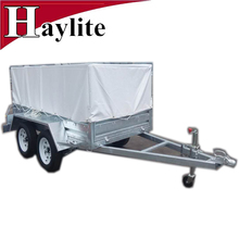 Galvanized utility cage trailer with canvas cover