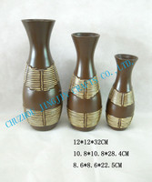 brown,blue,red,white,silver and gold ceramic vases/hand glazed ceramic flower vase/African style vase ceramic