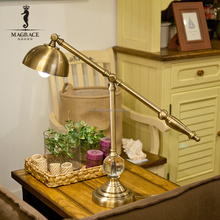 UL/ROHS/SAA approved 110-250v Gold color electroplated adjustable lamp head height Industry gold metal table lamp