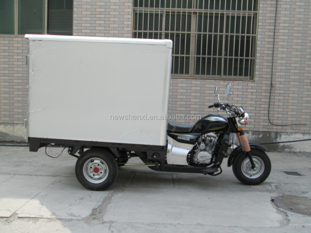 Electric Driving Type and Closed Body Type big size three wheel motorcycle