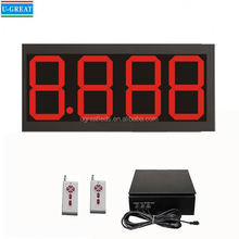 wireless outdoor waterproof IP65 7 segment led digital display gas price signs suppliers