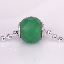Personalized Green Aventurine Jewelry Bead DIY Charms 925 Sterling Silver Jewelry Wholesale