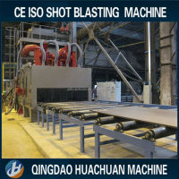 Q6915 series steel plate/ C channels/ steel angle type shot blasting Cleaning Type Sand blast machine
