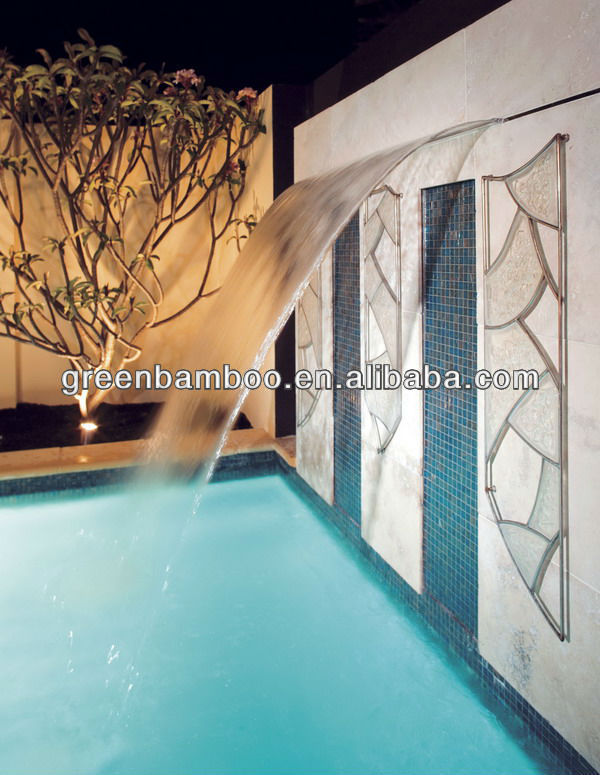 Designed stainless steel swimming pool waterfall with warranty SEG2030