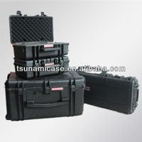 Durable heavy duty shipping case,weapon and military case,large plastic waterproof heavy tool boxes with wheels