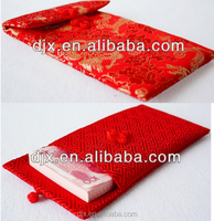 Chinese style Lucky red money pouch with knot