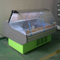 150cm(5feet) Curved Glass Counter Refrigerated Display Fridge Deli Meat Chiller