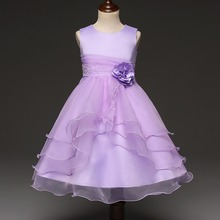 new arrival children flower puffy dress party wear dresses for girls of 2-6 years #00324