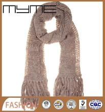 women crochet knitting scarf knitted scarves manufacturers fashion beaded scarfs (Accept custom)