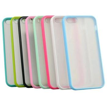 TPU Bumper With Clear Frosted Hard Back Case For Apple iPhone 5 5S