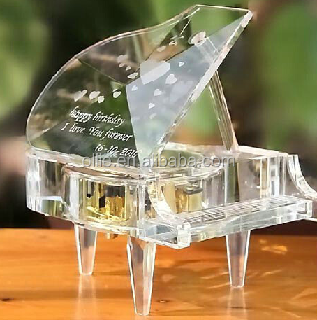 kids gift birthday ornament crystal piano music box