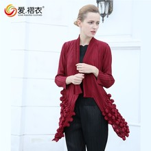 2016 Autumn New Arrival korea pleated coat for women
