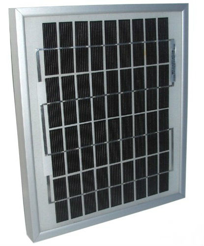 Lot of 5 6W Mono-crystalline Solar Panels 6 Watt 12 Volt in Anodized Aluminum Frame
