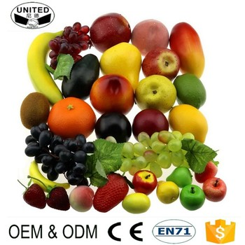 high simulate plastic realistic artificial fruit for decoration