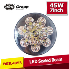 Newest Style with Good quality 7 inch headlight sealed beam h4 led head light, 7inch led lights,jeep led headlight