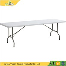 Hot sale high quality garden furniture 8ft outdoor folding rectangular table