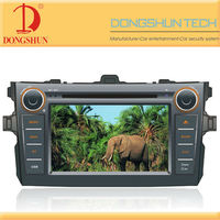 7inch double din car dvd for toyota corolla with Ipod bluetooth