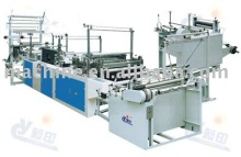 Ribbon-through Continuous Rolled Bag Making Machine
