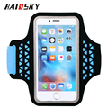 "HAISSKY Water Resistance Sports Armband Arm Band Case For iPhone 6 6S for samsung S6 S7 universal for 5.0"" screen mobilephone"