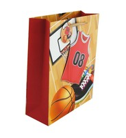 2015 new design sports gift paper bag